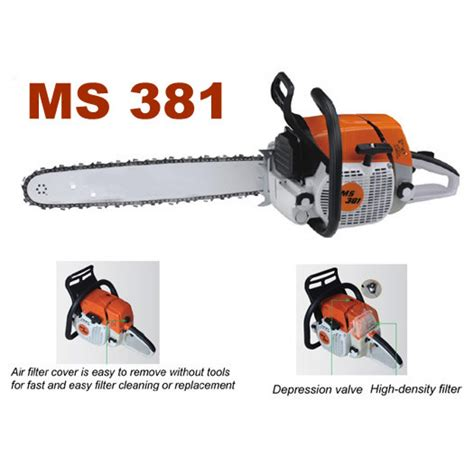 gergaji chainsaw stihl mesin potong pohon chain saw ms 381 25