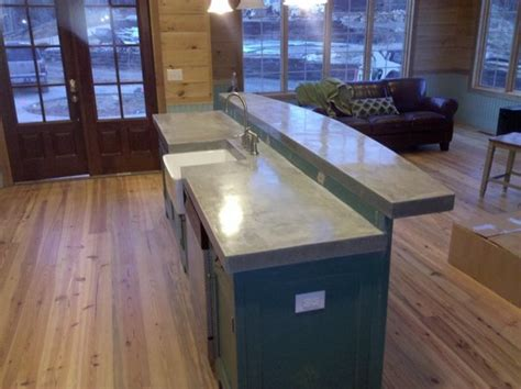 Cast In Place Concrete Countertop by Cast N Place Concrete Countertops Kitchen Birmingham