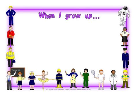 grow upwhen im older  page borders