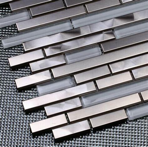 kitchen backsplash stainless steel tiles crystal white glass mosaic kitchen wall tile backsplash ssmt307 silver metal mosaic stainless