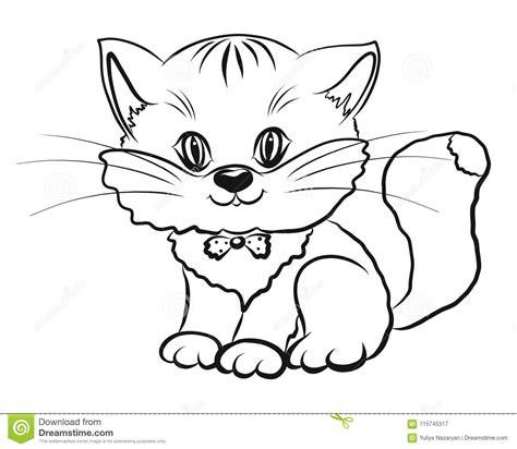 color kittens kitten childrens color stock illustration illustration