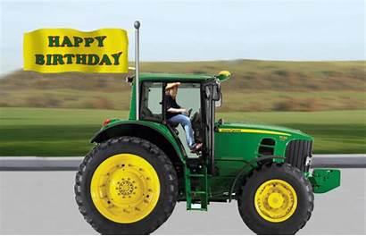 Birthday Happy Tractor Very Wishes Wishing Greetings