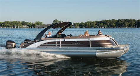 hp twin engine  wide beam pontoon boats