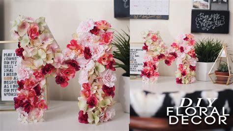 diy floral letter super easy cheap youtube
