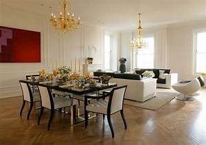 Creative methods to decorate a living room-dining room