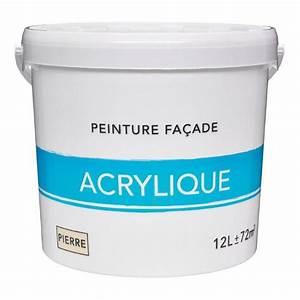 peinture facade acrylique ton pierre 12 l leroy merlin With peinture pour pierre exterieur
