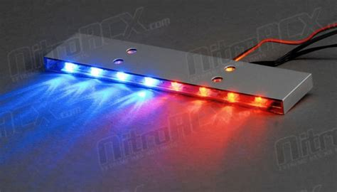1/10 Scale Led Police Light Bar Black Gloss Fireplace Gas Vs Wood Monessen Faux Mantel Diy Who To Call For Repair Refacing Over Brick What Is A Burning Insert Painted White Bricks