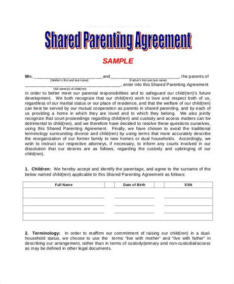 parenting agreement gtld world congress