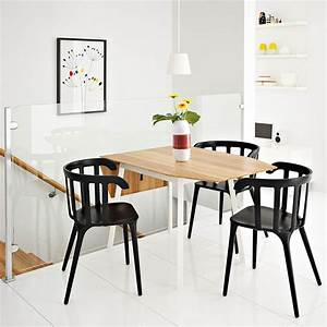 Table à Rabat Ikea : ikea ps 2012 table rabats en bambou blanc 2 4 places avec ikea ps 2012 chaises noires ~ Teatrodelosmanantiales.com Idées de Décoration