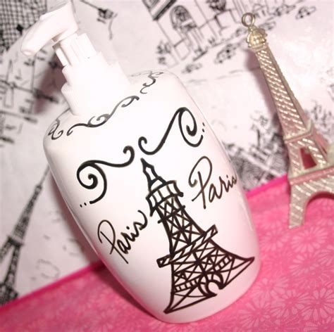 paris decor themed bathroom accessories by parischicboutique