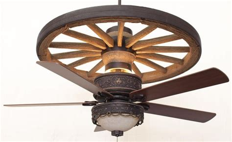 wagon wheel ceiling fan lighting  ceiling fans