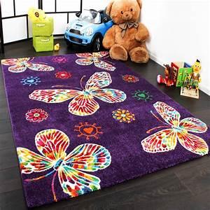 Teppich Für Kinder : kinder teppich butterfly lila teppichcenter24 ~ A.2002-acura-tl-radio.info Haus und Dekorationen