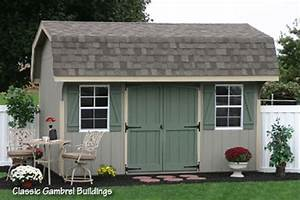 10x14 classic gambrel wooden storage shed from the amish With amish buildings morgantown wv