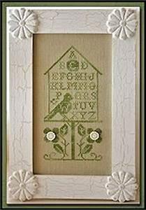 Zweigart Color Chart Little House Needleworks Birdhouse Alphabet Cross Stitch