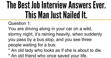 awesome quotes   job interview answers