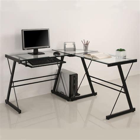 Walker Edison 3 Contemporary Desk Black by Walker Edison 3 Imperial Desk Black W Clear Glass D51z29