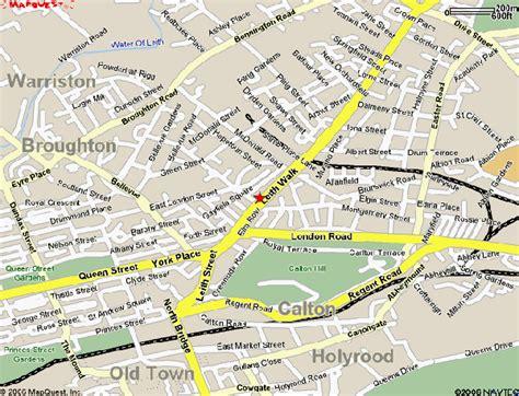 edinburgh map  edinburgh satellite image