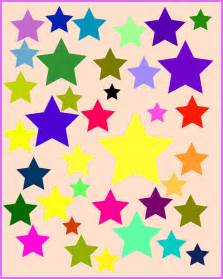 Colorful Star Cluster Clip Art