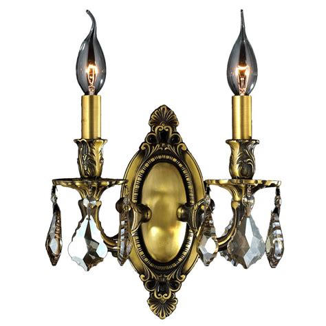 worldwide lighting windsor 2 light bronze golden teak candle cast brass wall