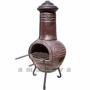 Barbecue Brasero Mexicain : brasero mexicain chemin e en terre cuite po le bois et ~ Premium-room.com Idées de Décoration