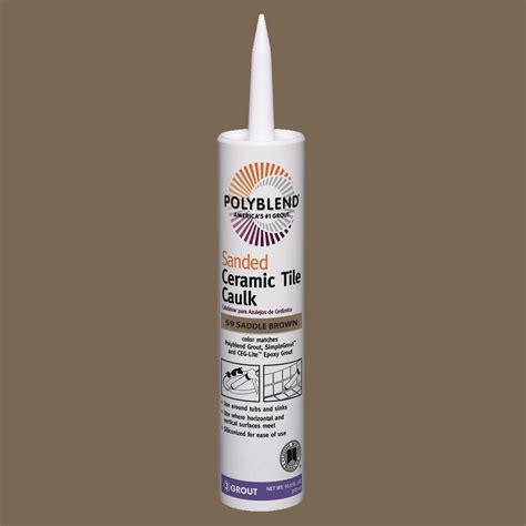 custom building products polyblend 59 saddle brown 10 5 oz sanded ceramic tile caulk pc5910s