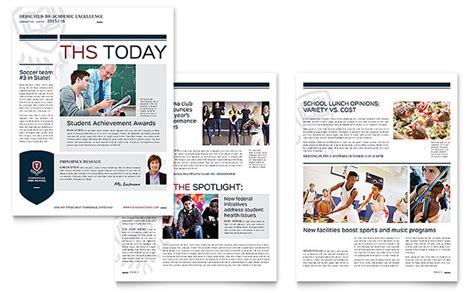 microsoft newsletter high school newsletter template word publisher
