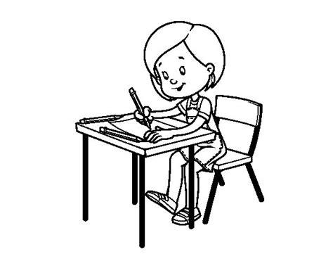 coloriage bureau coloriage de fille à bureau pour colorier coloritou com