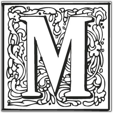 printable fancy letters m free printable fancy block alphabet coloring pages