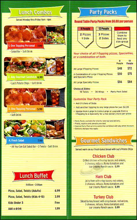 round table pizza menu prices table pizza yakima 28 images ay caramba tres amigos