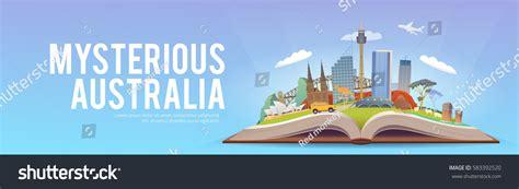 australia tourism bureau travel australia road trip tourism open stock vector