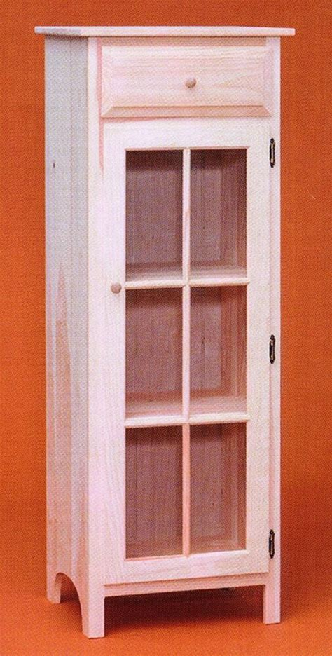 amish unfinished solid pine jelly cabinet shabby chic