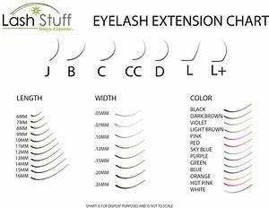 Eyelash Extension Style Chart Get Free Eyelash Extension Size Chart Eyelash