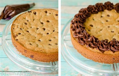 chocolate chip cookie cake  chocolate fudge frosting