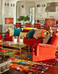 Teal And Orange Living Room Decor by Bohemian Style Interiors Living Rooms And Bedrooms