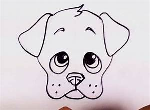 How to Draw a Puppy Face - Adorable Puppy Drawing Lesson ...