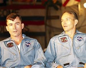 Gemini 10 astronauts John Young and Michael Collins, 1966 ...