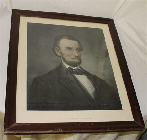Bargain John's Antiques   Portrait of President Abraham