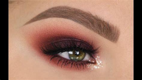 maroon smokey eye fall makeup tutorial youtube