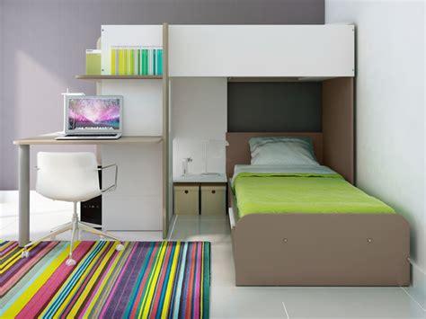 lits mezzanine avec bureau lits superposés samuel 2x90x190cm 3 coloris option matelas
