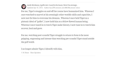 With Tiger Woods getting his first win in 5 years, I was ...