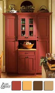 25 best ideas about red hutch on pinterest white hutch for Kitchen colors with white cabinets with motion wall art
