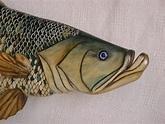 Tarpon number nine wooden fish Relief by Lisa Ruggiero