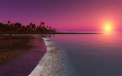 Sunset Beach Wallpapers Nature Windows Fantasy Coastal