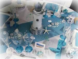 Mariage Theme Mer : decoration de table mariage bapt me ou anniversaire sur le th me turquoise blanc marin et mer ~ Nature-et-papiers.com Idées de Décoration