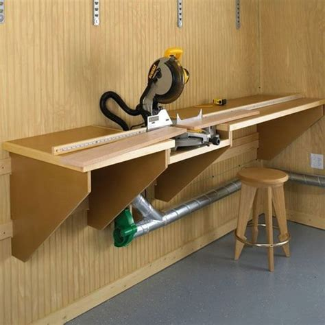 wood magazine woodworking project paper plan  build   mark mitersaw station