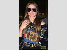 Heidi Klum & New Boyfriend Tom Kaulitz Land in LA After