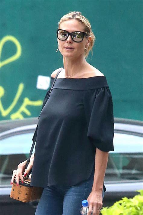 Heidi Klum Casual Style Out New York City