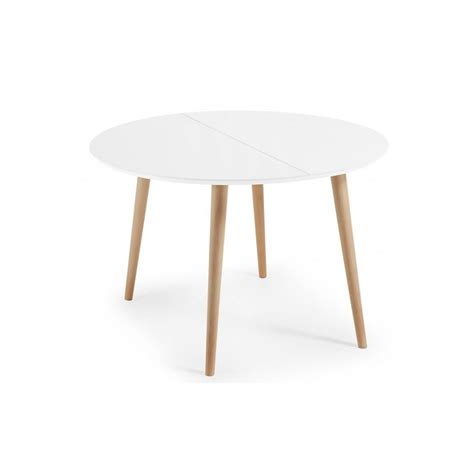 table a manger ronde table 224 manger ronde extensible lao blanc