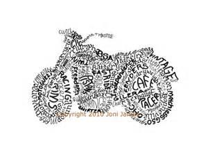 Old School Motorcycle Art Drawings