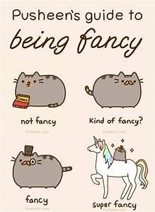 Pusheen's guide to being fancy   Grumpy Cat and Pusheen ...